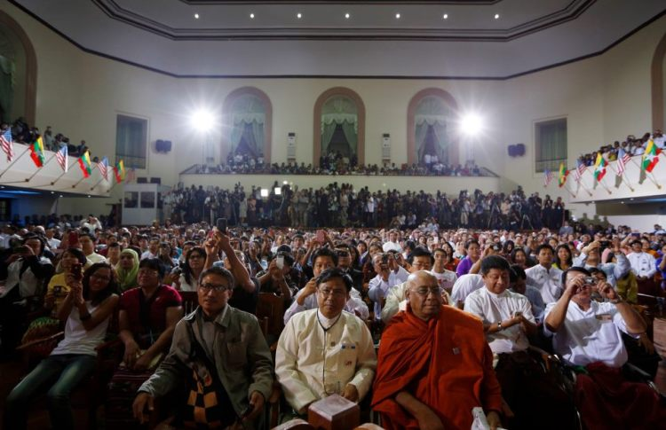 9.11.2012 - U.S President Barrack Obama's speech at University of Yangon, Burma.
